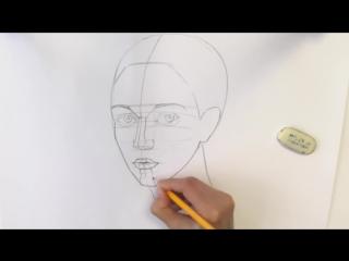 Как нарисовать человеческое лицо