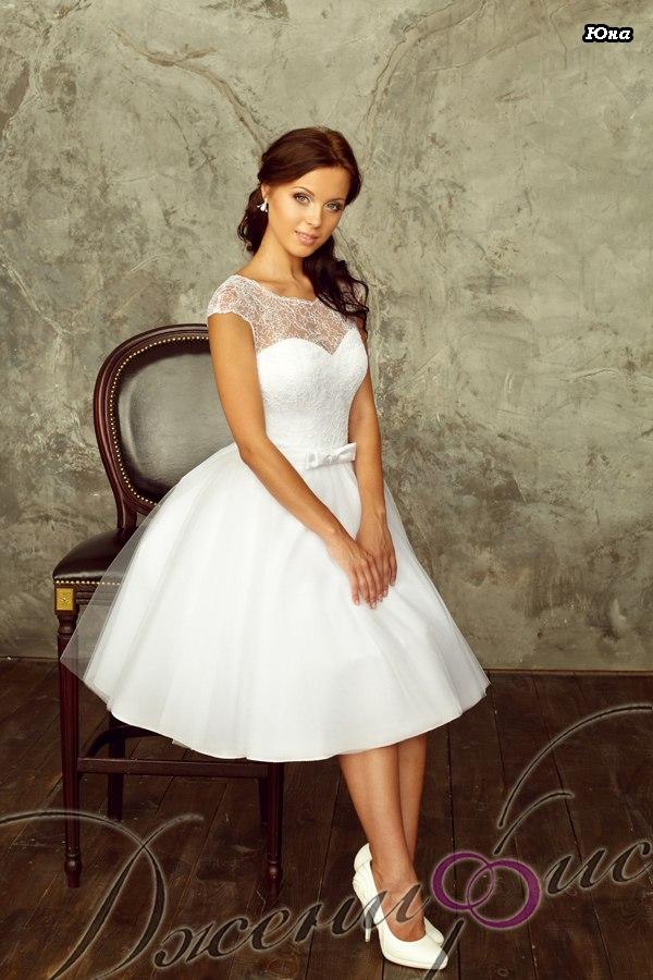 Фото красивые короткие свадебные платья