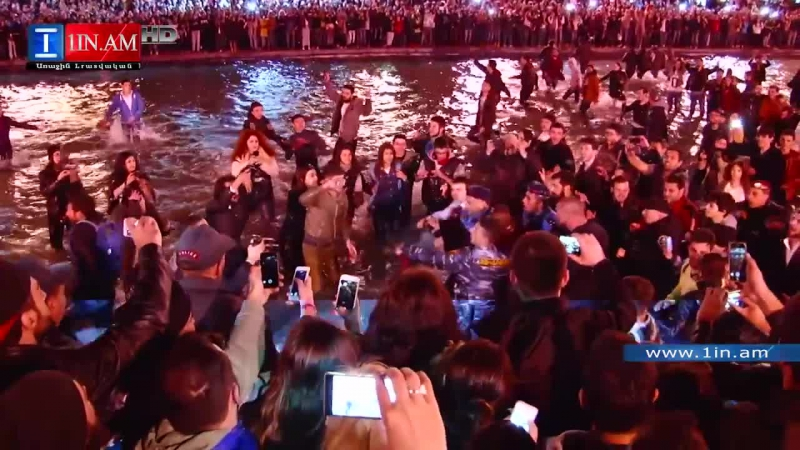 Kanye West performs at Karapi Litch (Swan Lake) in Yerevan