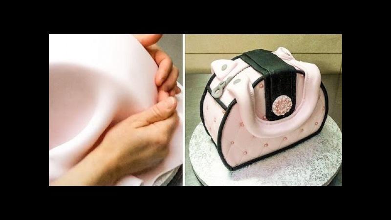 Easy Purse Cake - How To Make by Cakes StepbyStep *Decorar con Fondant