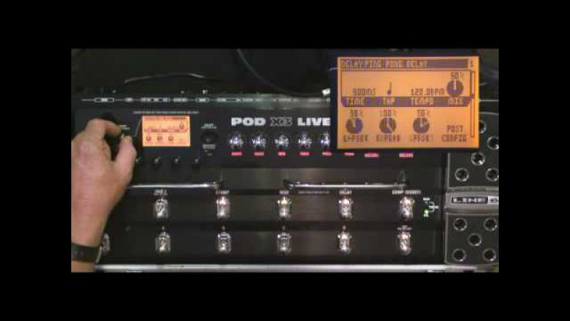 Line6 POD X3 Live Video Demo IV Part 2 by Glenn Delaune