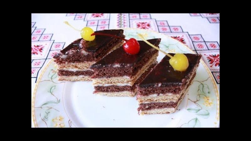Рецепт торта Стефанка просто и вкусно Как приготовить торт Пляцок Стефанка Выпе...