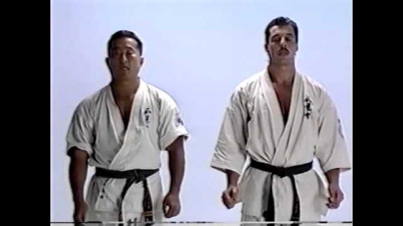 Andy Hug, master of Kyokushinkai - Techniques Kumite Karate Kyokushin and martial splits stretching