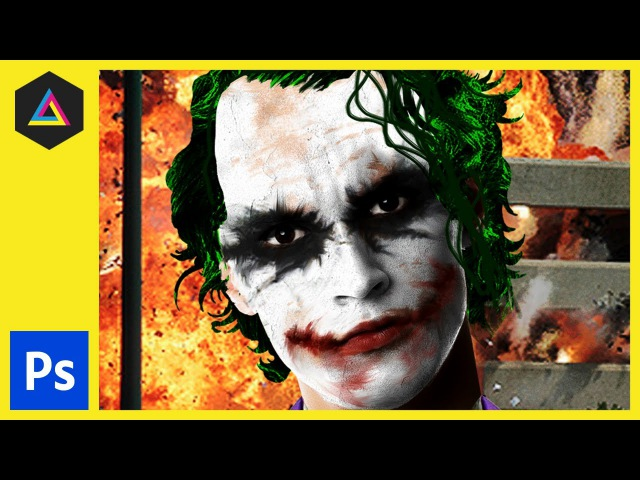 Joker Photoshop Tutorial: Smudge Tool, Warp Tool, Blending Modes More