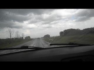Яровое в Новосибирск 3.07.2015 дождь дворники на максимуме скорость 100-120 км\ч
