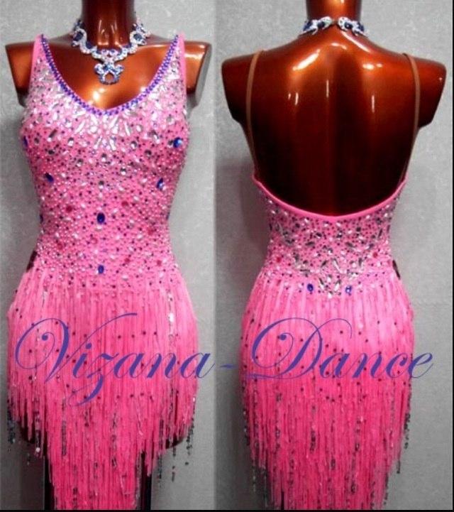 Бахрома платье латина