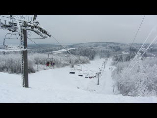Логойск. Зимний вид с верхней площадки