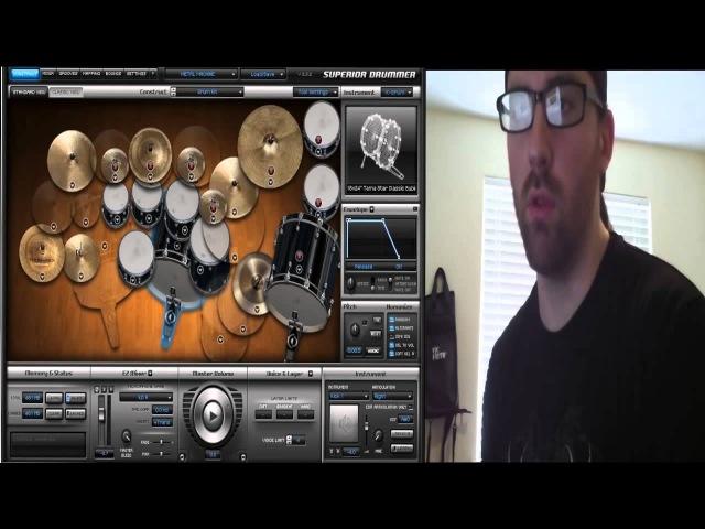 Использование барабанного сэмплера Superior Drummer 2