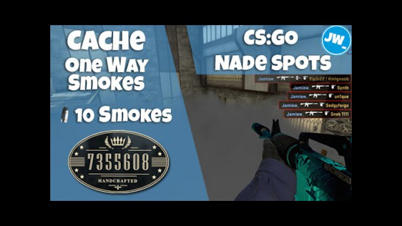 ONE WAY SMOKES EP 17 - 10 ON CACHE | Tutorial CS:GO Nade Spots - Jamiew_