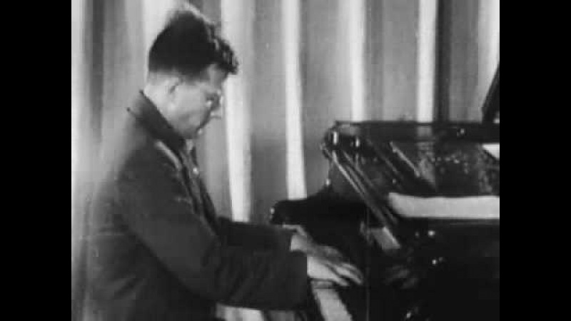 Shostakovich plays a fragment of his 7th symphony 1941