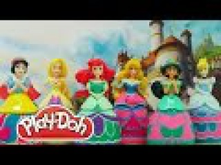 Play Doh 6 Disney Princess Cinderella Snow White Sleeping Beauty Mermaid Princess Rapunzel Jasmine
