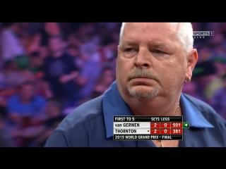 Michael van Gerwen vs Robert Thornton (World Grand Prix 2015 / Final)