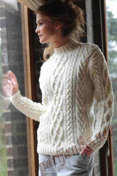 Варианты пуловеров и свитеров.