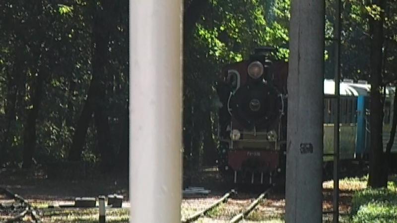Гр-336, с поездом, номер 11 Яблунька - Вишенька, прибывает на станцию Вишенька.