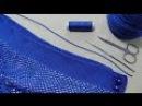 Как ввязать резинку в пояс юбки. Укрепление пояса вязаной юбки.