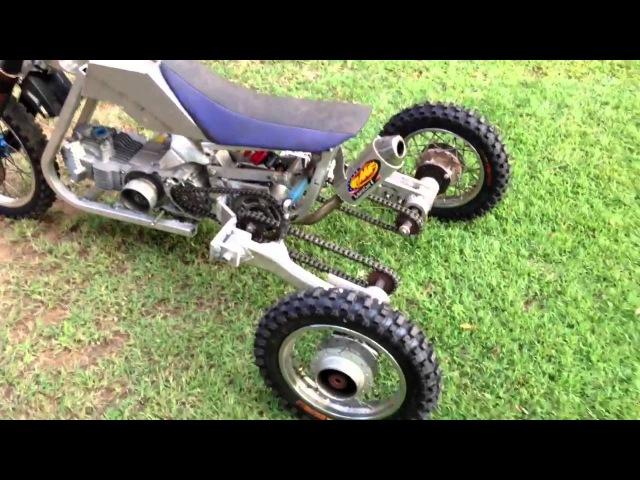 Tilting trike pit bike
