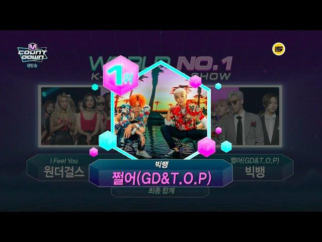 BIGBANG(GDT.O.P) - '쩔어(ZUTTER)' 0820 M COUNTDOWN : NO.1 OF THE WEEK