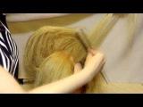 Прическа на основе начеса с волнами