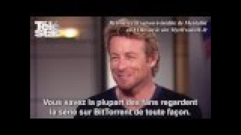 Simon Baker Mentalist Certains pensent que John le rouge est Patrick Jane Interview vidéo