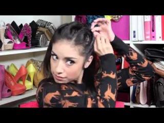 Прическа: Пучок со жгутиками за 5 минут