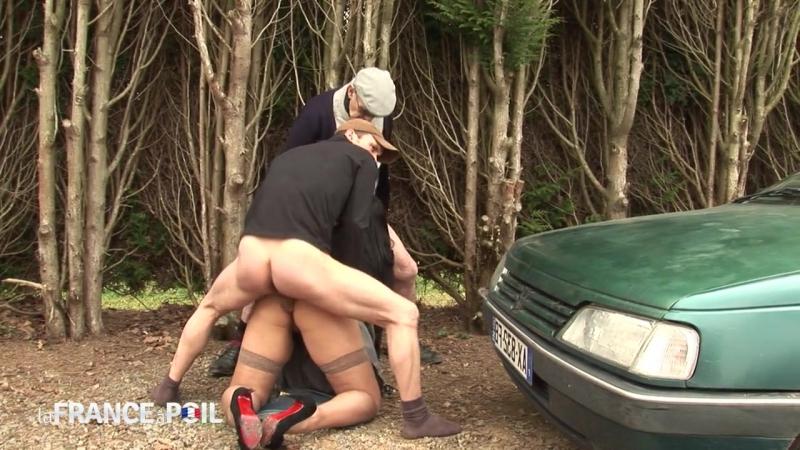 La France a Poil - Carmen 22yo curvy beurette bigtits fucked in taxi Threesome grandpa anal