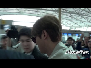[직캠] 20150320 Incheon Airport Lee Min Ho by.MinozToz