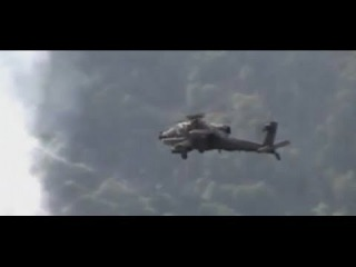Afghanistan - AH-64 Apache Helicopter Airstrike Destroys Taliban Positions During Firefight