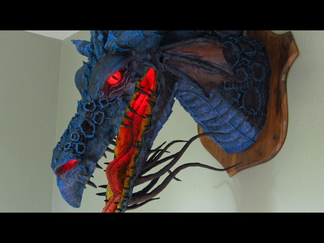Paper Mache Dragon Trophy-Son of Maleficent