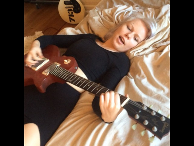 """Kerli on Instagram """"My neighbors and my cat are equally stoked. Holla if you wanna hire me for your band (Im really expensive tho). 👯🎸😂"""""""