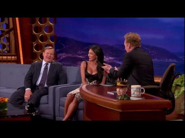 Nicole Scherzinger Busts Conan For Staring At Her Boobs
