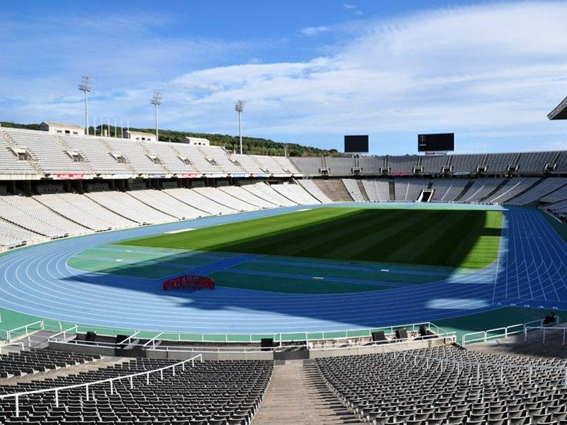 Олимпийский стадион Луис Компанис (Estadi Olimpic Lluis Companys). Барселона, Испания.