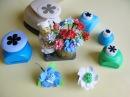 Цветы из фоамирана с помощью фигурных дыроколов для венка. Мастер класс для начинающих.