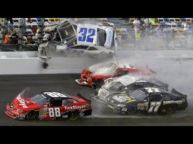 Жесткие аварии на гонках