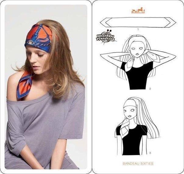 6 стильных способов завязать платок (6 фото) - картинка