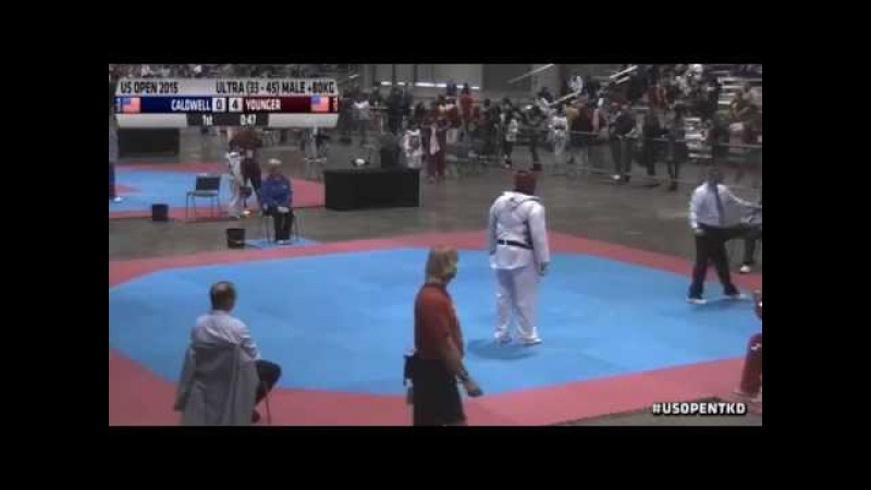 Instructor Laron Younger wins semi final in 6 seconds US Open Takewondo Championship 2015