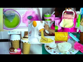 Ice Cream Maker, Sandwich, Pasta Maker and Popin Cookin Compilation - Kids' Toys