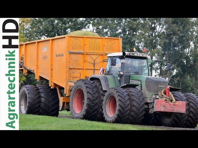 2 Krone BigX 1100 häckseln im Moor mit Fendt 930 Überladewagen