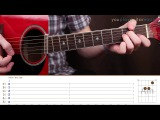 Как играть Eagle-Eye Cherry Save Tonight (guitar tutorial and palm muting lesson)