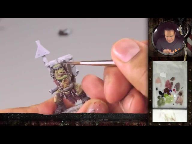 PBCC 001 Ork Burna Boy Part 1 How to paint an Ork's green skin