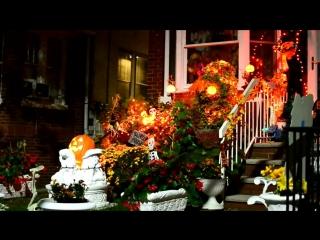 Как американцы украшают свои дома к Halloween