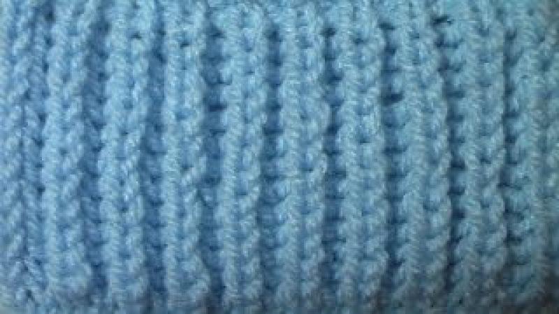 Английская резинка. Вязание на спицах. Узор № 1.