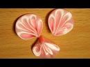 Базовые лепестки Канзаши 45 Плоский круглый лепесток со складочками Kanzashi