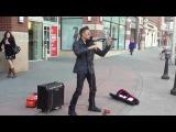 Нереально крутая игра на скрипке уличного музыканта