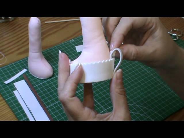 Tutorial Muñeca completa 3ª parte Rellenar cuerpo y hacer zapatos