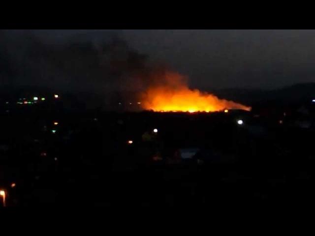 Місце падіня збитого ІЛ 76 в Луганську