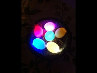 Светящееся резиновое яйцо дома/ ЛОЖЬ