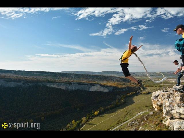 Роупджампинг в Крыму - прыжки со 150 метрой скалы в Качи-Кальоне. Rope Jumping 150 meters.