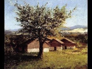 Уроки живописи | Шведский пейзаж с цветущей яблоней. Уроки рисования.скоблинский.Max Skoblinsky