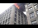 Монреаль. Канадские пожарные таранят полицейскую машину и припаркованный BMW.