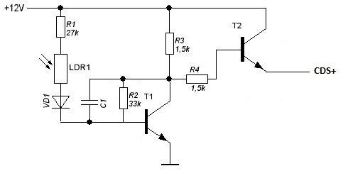 Схема для инфракрасной подсветки